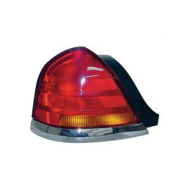 Ford Crown Victoria Tail Lamp W O Sport  Bulb Red Amber Lens Lh